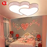Leihongthebox Ceiling Lights lamp Led light-iron bed for children ceiling light love Sweethearts Room, no polarity bands to remote control lights for Living Room,660480mm