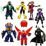 New Set of 8 Pcs Big Hero 6 Movie Character Action