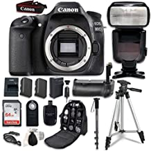 Canon EOS 80D Digital SLR Camera Bundle (Body Only) with Professional Accessory Bundle (15 items)