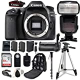 Cheap Canon EOS 80D Digital SLR Camera Bundle (Body Only) with Professional Accessory Bundle (15 items)