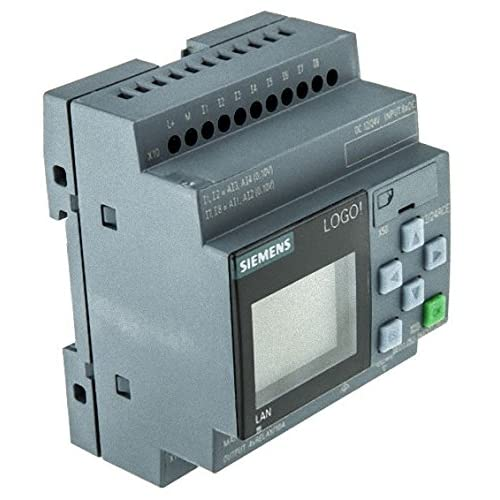 Image of Amplifier Installation SIEMENS 6ED1052-1MD00-0BA8 Discontinued by Manufacturer, Logic Control Module, Logo Series, 12/24 RCE, Display PS/I/O: 12/24 VDC/Relay, 8 DI (4AI)/4 DO, Memory 400 Blocks, Modular Expandable
