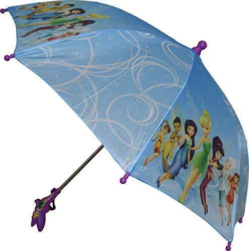 Umbrella Princess (Disney Fairies Girls Umbrella With 3D Tinkerbell Molded Handle Blue)