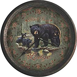 River's Edge Products 15 Black Bear Lodge Clock