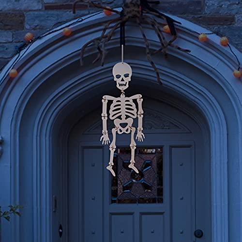Halloween Decorations Halloween DIY Skull Frame Pendant Wooden Decorative Pendant,Halloween Decorations Outdoor Paintable Skull for Halloween Family Party