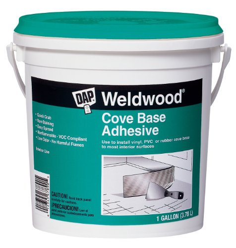 Cove Base Adhesive - DAP 25054 Dap 1-Gallon Weld Wood Cove Base Adhesive, Off-White