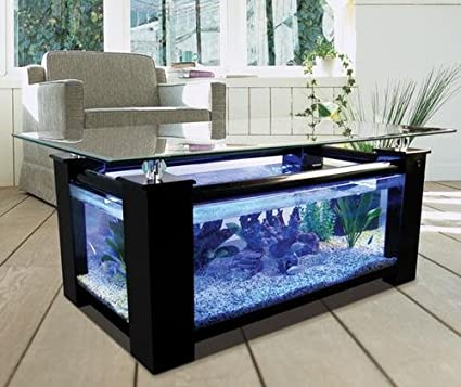 Great Amazon.com : 68 Gallon Square Coffee Table Aquarium, Fish Ready With Light  And Filter : Half Moon Fish Tank : Pet Supplies