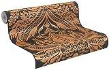 515220 - Trianon XI Floral Black Copper Galerie Wallpaper