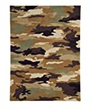 Area Rug, Army Kids Boys Camouflage Soft Wool Carpet, 5' X 8'