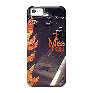 First-class Case Cover For Iphone 5c Dual Protection Cover Miss You