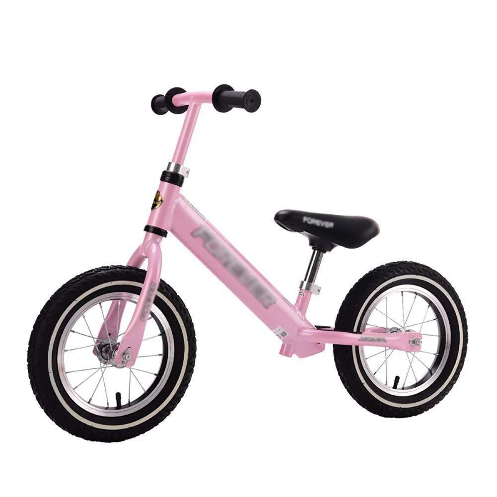 幼児のバイク、バランスのバイク、女の子のための調節可能なハンドルバーの座席男の子の誕生日プレゼント、軽量のトレーニングバイク ZHAOFENGMING (Color : Pink, Size : As shown) B07TR5WRDD Pink As shown
