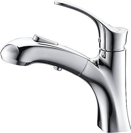 Umi. Essentials Wasserhahn Bad Waschbecken Armatur mit herausziehbarer  Brause Mischbatterie Waschtischarmatur