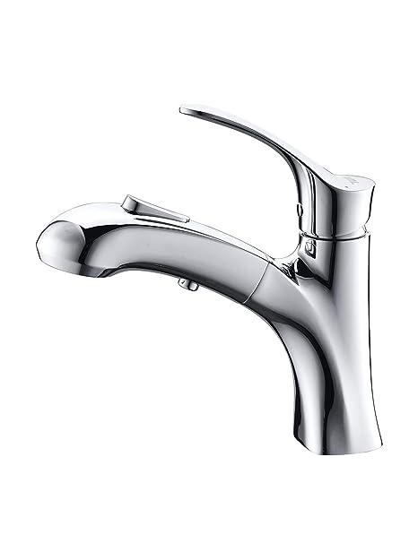 Waschbecken Amazon.Umi By Amazon Wasserhahn Bad Waschbecken Armatur Mit Herausziehbarer Brause Und Eine Pause Taste Mischbatterie Waschtischarmatur