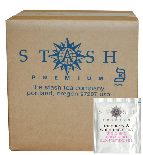 Stash Tea Decaf Raspberry & White Tea 100 Count Tea Bags in Foil (packaging may vary) Individual Decaffeinated White Tea Bags for Use in Teapots Mugs or Cups, Brew Hot Tea or Iced Tea by Stash Tea