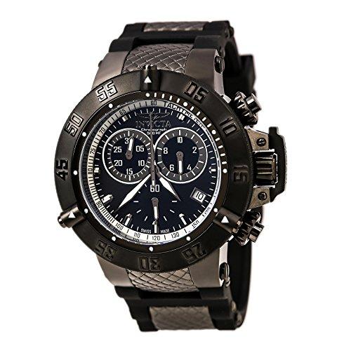 (Invicta Men's 5508 Subaqua Sport Black Ion-Plated Chronograph Watch)