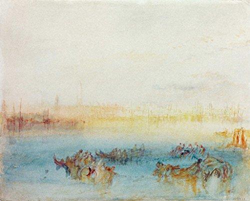 (kunst für alle Art Print/Poster: Joseph Mallord William Turner Venice Riva Degli Schiavoni from Channel to Lido... Picture, Fine Art Poster, 39.4x31.5 inch / 100x80 cm)