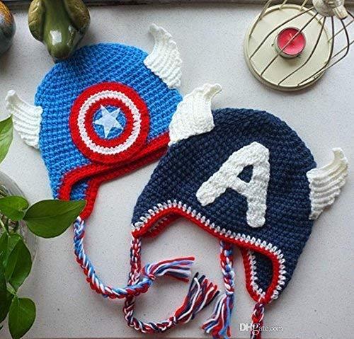 Gorro Capitán America 2 AMIGURUMI PERSONALIZABLE REYES MAGOS ...
