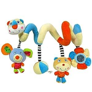 Activity cochecito de juguete en espiral con cascabel y espejo beb - Espejo coche bebe amazon ...