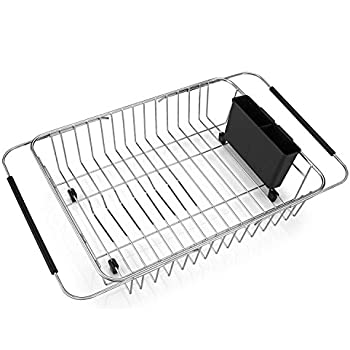 Amazon Com Sanno Expandable Dish Drying Rack Over The