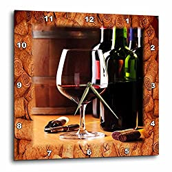 3dRose dpp_62548_2 Share Some Wine with Me Wall Clock, 13 by 13-Inch