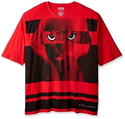 Sean John Men's Big and Tall Short Sleeve Nocturnal T-Shirt