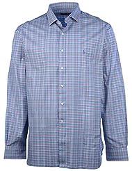 Polo Ralph Lauren Men's Broadcloth Button Down Shirt-Black/White