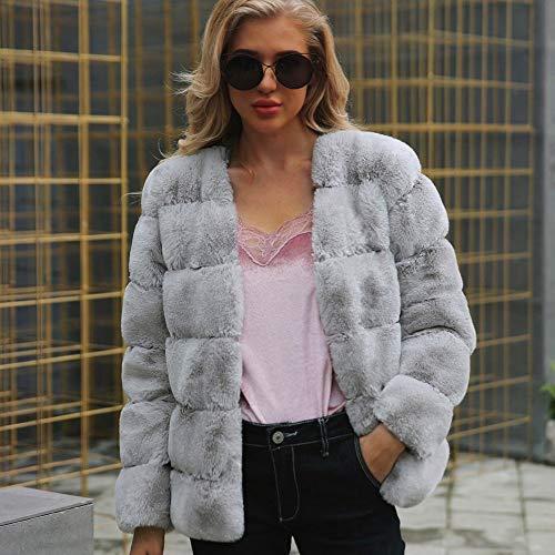 Lungo Caldo Outwear Mantieni Pelliccia Cardigan Cappotto In Elegante Calda Grigio Jacket Elecenty Sintetica Trench Per Donna 5vHw7qnF