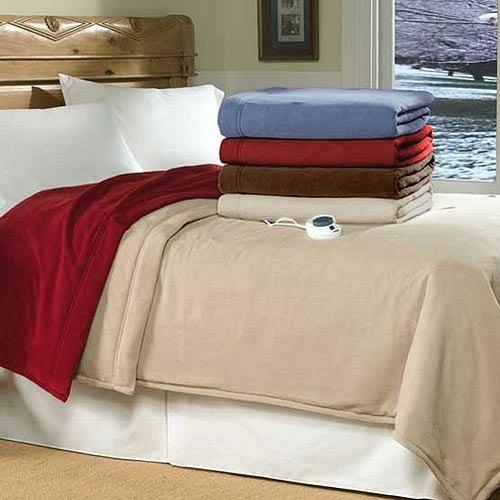 SoftHeat Luxury Micro-Fleece Electric Heated Warming Blanket
