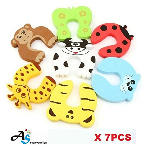 - A&S Creavention Animal Foam Door Stopper Cushion Children Safety Finger Pinch 7PCS Set (Mix on each)