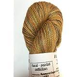 Artisan Yarns Hand Dyed Alpaca Silk Yarn, Hand Painted Hammered Copper, Dk Weight, 100 Grams, 245 Yards, 70/30 Baby Alpaca/Mulberry Silk