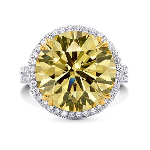 11.04Cts Yellow Diamond Engage