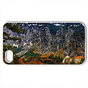 traunsee lake in austria at autumn hdr - Case Cover for iPhone 4 and 4s (Lakes Series, Watercolor style, White)