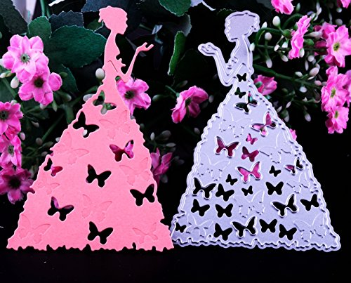 Dies Cut Cutting Die for Cards Making Butterfly Beauty Girl Metal Embossing Stencils for DIY Craft Scrapbooking Photo Album Paper Gift (Dies 43 (Girl Die Cut)