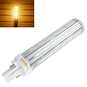 bonlux g24 led pl retrofit lamp universal g24d 2 pin g24q 4 pin base 21mm led plc lamp 26w. Black Bedroom Furniture Sets. Home Design Ideas