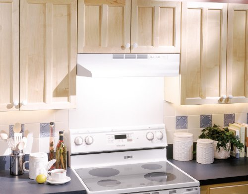 Broan 412401 ADA Capable Non-Ducted Under-Cabinet Range Hood, 24-Inch, White by Broan