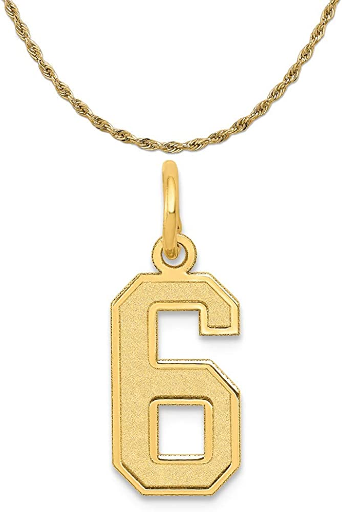 14K Yellow Gold Small Satin Number 20 Charm
