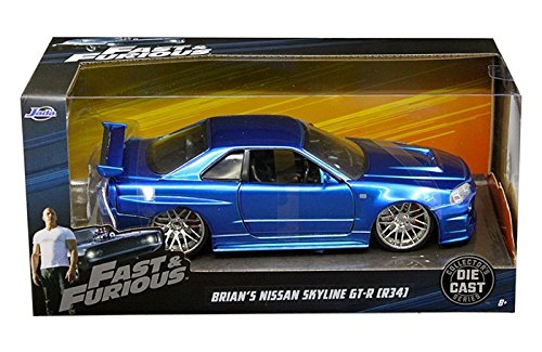 Brian's Nissan GTR Skyline R34 Blue Fast & Furious, used for sale  Delivered anywhere in USA