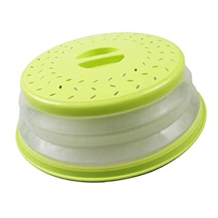 AZ42 Collapsible Microwave Plate Cover Lid Food Dish Splatter Shield Guard New