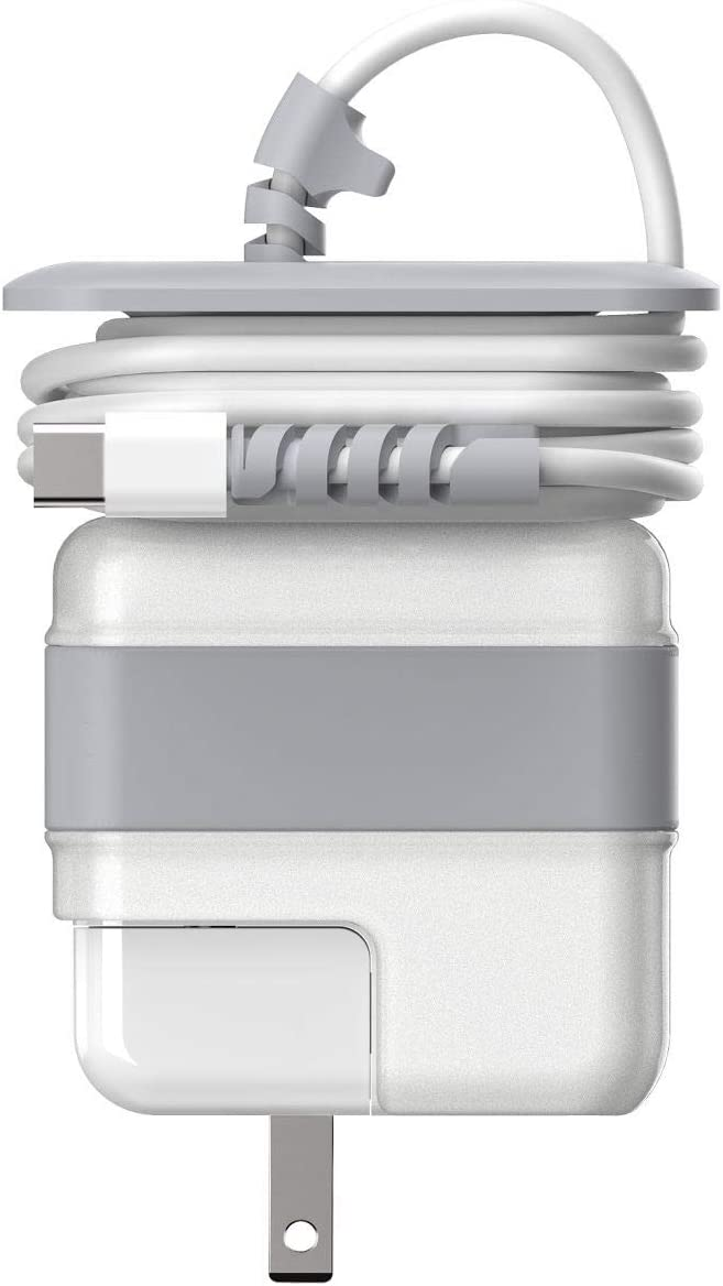 wenew Travel Cord Organizer Compatible with Apple MacBook Air Charger Protective Case for Magsafe USB-C Power Adapter 29W 30W Mac Cable Management Cord Winder Mac Accessories (Mac Air 12