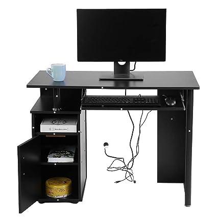 Mobili Scrivania Computer.Gototop Scrivania Per Computer Nero Ferro Lavoro Studio
