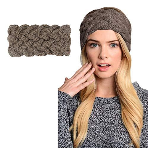 (Womens Winter Knitted Headband - Crochet Twist Hair Band Turban Headwrap Hat Cap Einter headband Ear Warmer (Pure Color -)
