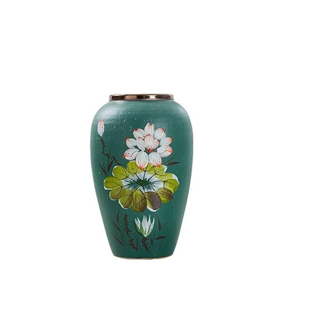 セラミック花瓶用花緑植物結婚式の植木鉢装飾ホームオフィスデスク花瓶花バスケットフロア花瓶 (三 : M m) B07RLKQVC5  M m