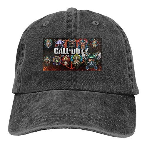 BYSKA Personalized Printed Comfortable Hats All Prestige Emblems for Call of Duty 2 Classic Baseball Caps Black (Call Of Duty Modern Warfare 2 Prestige)