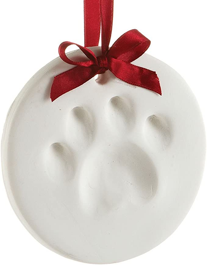 Amazon Com Pearhead Pet Pawprint Hanging Diy Keepsake Ornament Dog Or Cat Pet Owner Holiday Christmas Gift White Automotive Pet Safety Products Pet Supplies