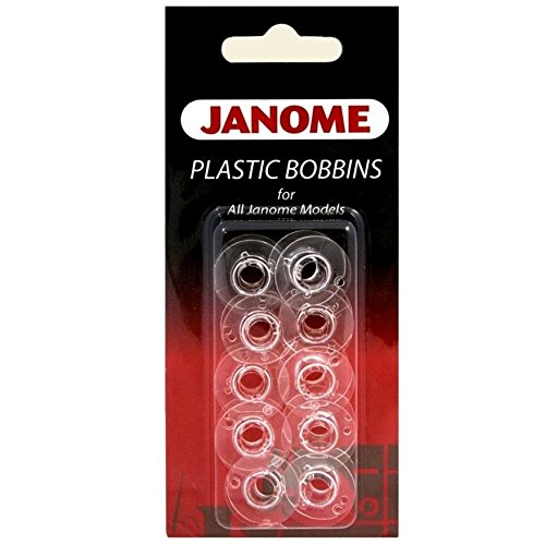 - Janome Genuine 10 Pk. Plastic Bobbins #200122614 for All Janome & Necchi Models