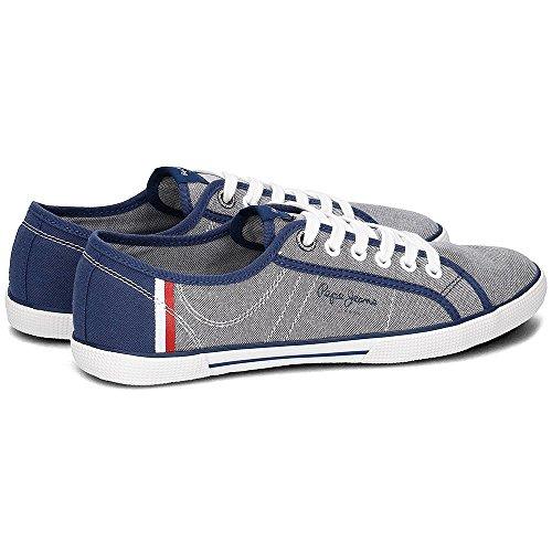Pepe Jeans Hombre Court Zapatillas Jeans para Aberman vvqw40r