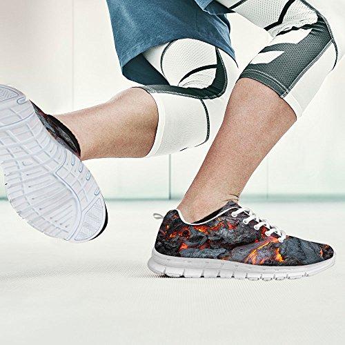 For U Design Mote Unisex Flex Gusto Løper Mesh Pustende Tog Sneaker Joggesko Grå 4