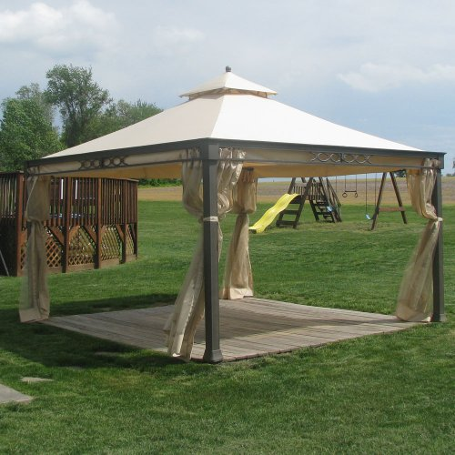 Garden Winds Replacement Canopy And Netting For Shelter