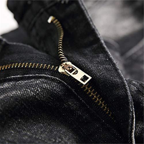 New Trend Uomo High Strappati Jeans Locomotive Da 33 Street dimensione Slim Alla Yiwuhu Moda qSI1tB
