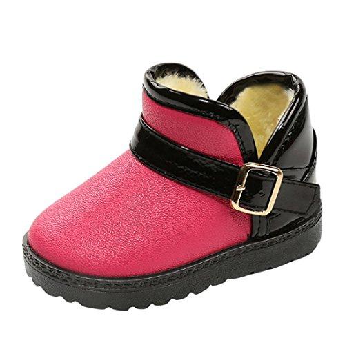 IGEMY Kleinkind Kinder Baby Mischfarben Mädchen Jungen Schuhe, Winter Martin Schnee Stiefel Schuhe Rosa