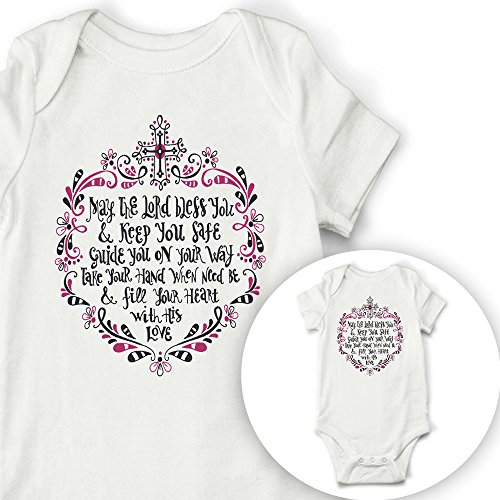 Ocean Drop Designs Scripture Quote Baby Bodysuit, Christian Baby Gift